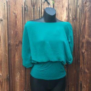 Blue Bebe blouse